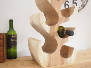Natural Wooden Wine Rack - 8 Bottle