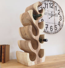 Load image into Gallery viewer, Natural Wooden Wine Rack - 8 Bottle