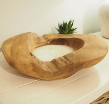 Load image into Gallery viewer, Reclaimed Wood Candle Bowl - Medium