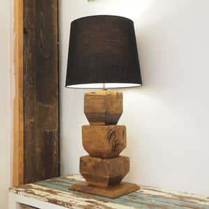 Rustic Wooden Table Lamp - Lumen