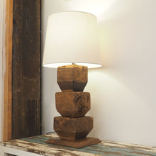 Load image into Gallery viewer, Rustic Wooden Table Lamp - Lumen