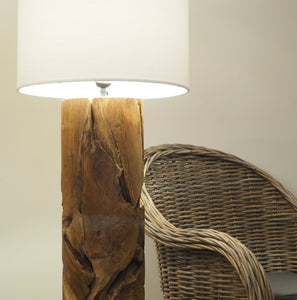 Wooden Pipe Floor Lamp Medium - Xilon
