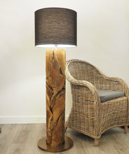 Load image into Gallery viewer, Wooden Pipe Floor Lamp Small - Xilon
