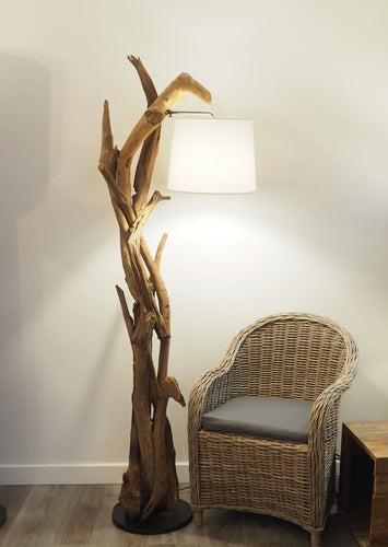 Driftwood Style Floor Lamp - Morgan