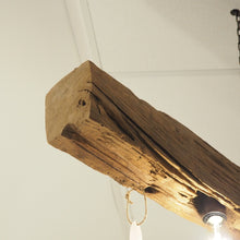 Load image into Gallery viewer, Reclaimed Wooden Hanging Chandelier