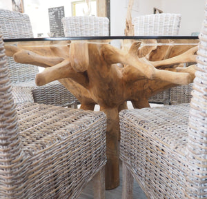 Reclaimed Teak Root Round Dining Table 180cm