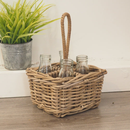 Wicker Oil And Vinegar Basket