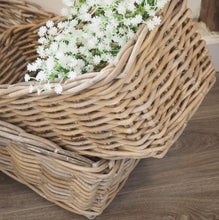 Load image into Gallery viewer, Rectangular Wicker Baskets - Small