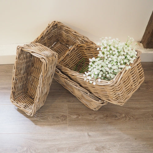 Rectangular Wicker Baskets - Small