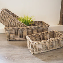 Load image into Gallery viewer, Rectangular Wicker Basket - Medium