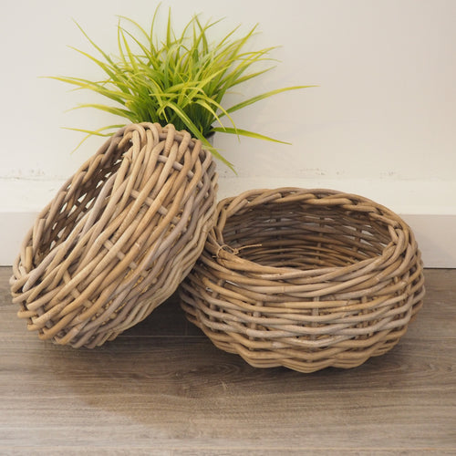 Small Round Wicker Basket