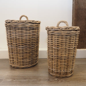 Round Wicker Storage Bin 'Campos' - Small