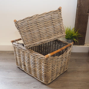Wicker Basket with Wooden Handles 'Carmona' - Large