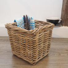 Load image into Gallery viewer, Wicker Storage Basket Square - Small