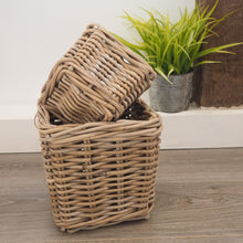 Load image into Gallery viewer, Wicker Storage Basket Square - Large