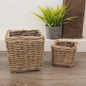 Wicker Storage Basket Square - Large