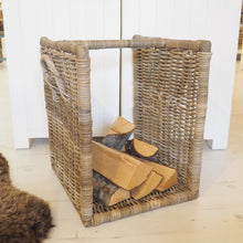 Load image into Gallery viewer, Wicker Log Basket - Small