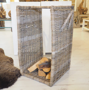 Wicker Log Basket - Large