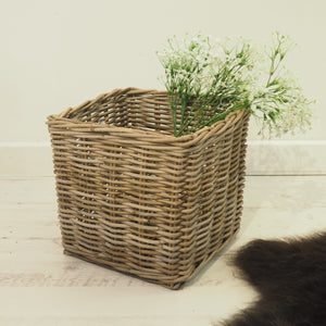 Square Natural Wicker Basket - Medium