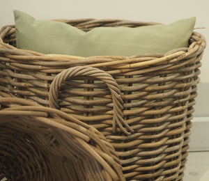 Round Natural Wicker Basket - Small