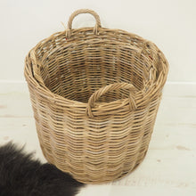 Load image into Gallery viewer, Round Wicker 'Boal' Basket - Large