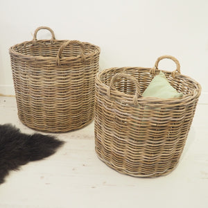 Round Wicker 'Boal' Basket - Large