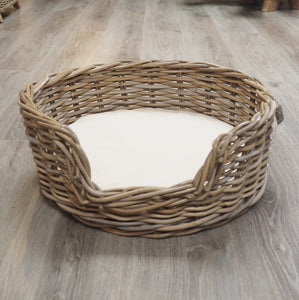 Wicker Dog Basket Small