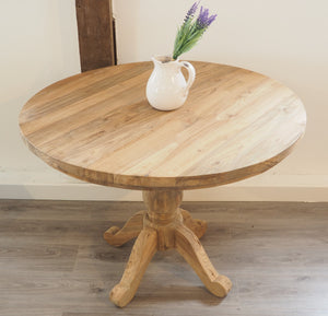 100cm Reclaimed teak round table.