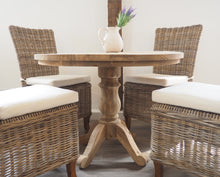 Load image into Gallery viewer, Reclaimed Teak Dining Table Round - 100cm