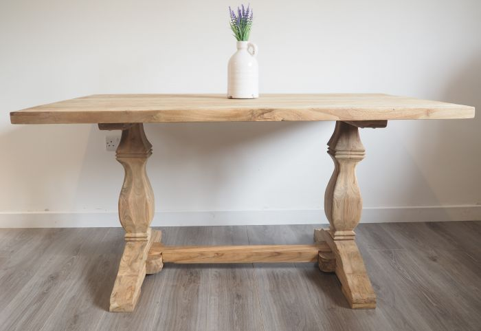 Reclaimed Wood Dining Table - Rectangular - 150cm