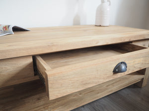Reclaimed Coffee Table With Drawer