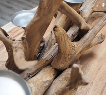 Load image into Gallery viewer, Teak Root Table Candle Holder