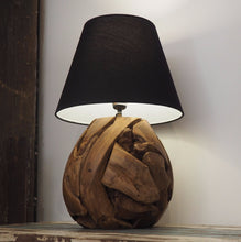 Load image into Gallery viewer, Rustic Wooden Table Lamp - Bella