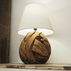 Rustic Wooden Table Lamp - Bella