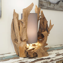 Load image into Gallery viewer, Rustic Wood Table Lamp - Bion