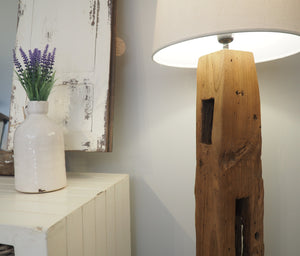 Rustic Wood Floor Lamp - Daytona