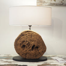 Load image into Gallery viewer, Round Wooden Table Lamp - Genta