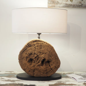 Round Wooden Table Lamp - Genta
