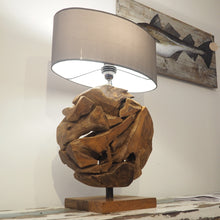 Load image into Gallery viewer, Teak Root Lamp - Globe