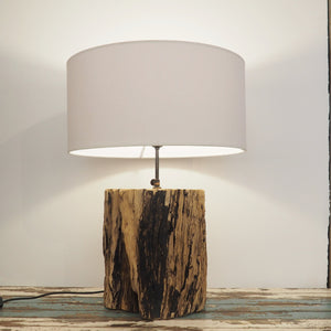 Rustic Wooden 'Tree Trunk'  Table Lamp - Kenyon