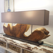 Load image into Gallery viewer, Reclaimed Teak Table Lamp - Naga Double