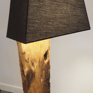 Reclaimed Wood Floor Lamp - Praba (Large)