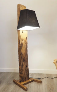 Reclaimed Wood Floor Lamp - Praba (Medium)