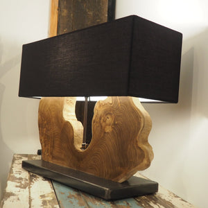 Reclaimed Teak Table Lamp - Naga Single