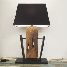 Load image into Gallery viewer, Teak Table Lamp - Prisma