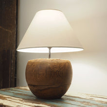 Load image into Gallery viewer, Round Wood Table Lamp - Vena