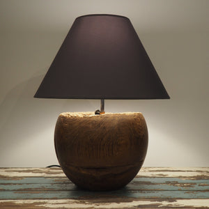 Round Wood Table Lamp - Vena