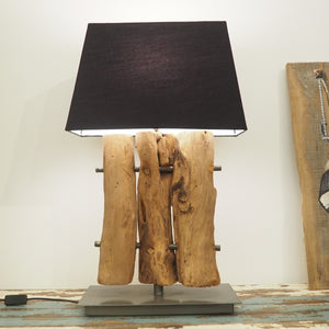 Wooden Table Lamp - Tri