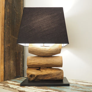 Wooden Desk Lamp Teak Root -Tiga