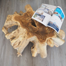 Load image into Gallery viewer, Rustic Reclaimed Large Teak Standing Bowl